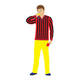 Sports referee with whistle. Stock Photo