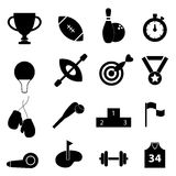 Sports related icon set Stock Photo