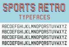 Sports retro typefaces Stock Image