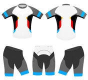 Sports rider cycling vest design Stock Photos