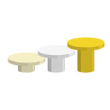 Sports Round pedestal fo winner. Prizes for achievement. Empty p Royalty Free Stock Photography