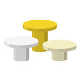 Sports Round podium on a white background. Three prizes: gold, s Royalty Free Stock Images