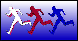 Sports Runners 4 Stock Photos