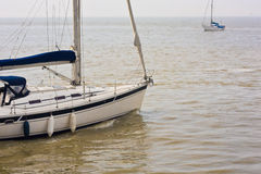 Sports sailing boats on the ocean Royalty Free Stock Images