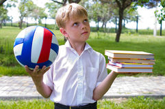 Sports or school? Royalty Free Stock Image
