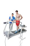 Sports Scientist doing Performance Assessment Stock Photo