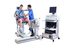 Sports Scientist doing Performance Assessment. Modern Technology Royalty Free Stock Photo
