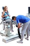 Sports Scientist doing Performance Assessment. Modern Technology Stock Photography