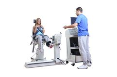 Sports Scientist doing Performance Assessment Stock Photography
