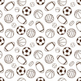 Sports seamless pattern Stock Images