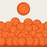 Sports seamless pattern with basketball icons in Stock Photography