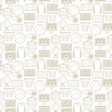 Sports seamless pattern with basketball icons in Royalty Free Stock Photography