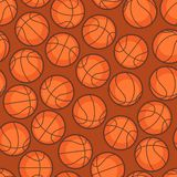 Sports seamless pattern with basketball icons in Royalty Free Stock Photos