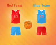 Sports series. Team basketball catoon uniform: shorts and jersey Stock Photography