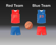 Sports series. Team basketball uniform: shorts and jersey Royalty Free Stock Photos