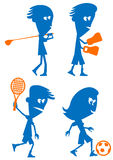 Sports Set. Golf, Boxing, Tennis and Soccer vector illustration
