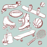 Sports set with balls and equipment Stock Photo