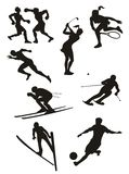 Sports Set - silhouettes. Collection of sports vector black isolated on white background Vector Illustration