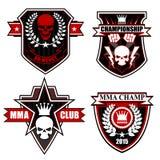 Sports shield emblem graphic set Stock Photo