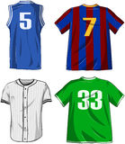 Sports Shirts Pack. Vector illustrations pack of various sports shirts stock illustration