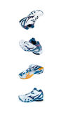 Sports shoes from different angles. Isolated on white stock image