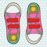 Sports shoes for a girl Royalty Free Stock Photos