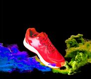 Sports shoes for health That separates from the background clipping part