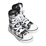 Sports shoes - high top sneakers Royalty Free Stock Image