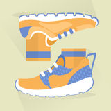 Sports shoes icon design. Sports shoes vector icon design. flat style Stock Photo
