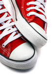 Sports shoes red Royalty Free Stock Images