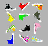 Sports shoes for teens Stock Photos