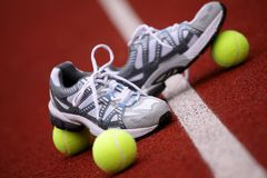 Sports shoes for tennis Stock Photography