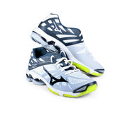 Sports shoes on. A white background Royalty Free Stock Images