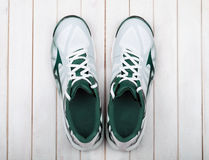 Sports shoes on a white Royalty Free Stock Image