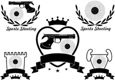 Sports shooting Royalty Free Stock Image