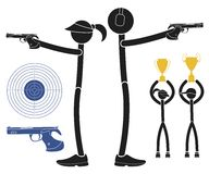 Sports shooting Royalty Free Stock Images