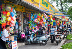 Sports shops in Vietnam Stock Image