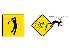 Sports sign. A funny combination sports sign Royalty Free Stock Photography