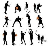 Sports silhouettes Royalty Free Stock Images