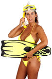 Sports: Snorkeling Royalty Free Stock Photos