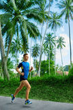 Sports. Sporty Runner Running. Jogger Training, Jogging. Fitness Stock Image