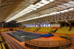 Sports stadium. Interior view of a new modern sports stadium Stock Photos