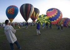 Sports Stadium Balloon Launch Royalty Free Stock Photo