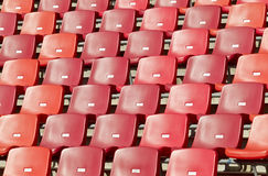 Sports stadium chairs Stock Photo