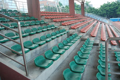 Sports stadium  empty seats Royalty Free Stock Photos