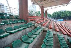 Sports stadium  empty seats Stock Photos
