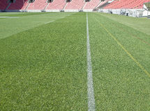 Sports stadium field markings Royalty Free Stock Image
