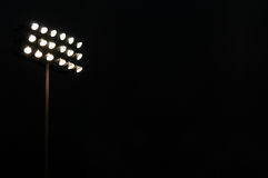 Sports stadium flood lights Stock Photo