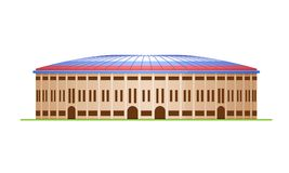 Sports stadium for football and the Olympic Games, sports arena. Royalty Free Stock Images