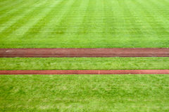 Sports stadium with race tracks Stock Images
